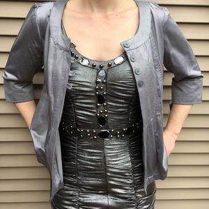 NWT Mossimo silver 4-button light jacket blazer